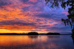 Helt magisk solnedgang, bildet er tatt på Vanninga.