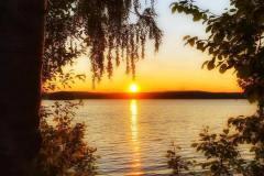 Solnedgang fra Vanninga