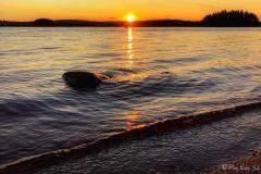 Solnedgang fra vannkanten ved Vanninga, alltid like vakkert.
