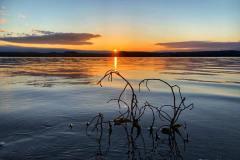 Solnedgang over vakre Vanninga