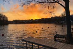 Løken - her fanget med en vakker solnedgang over Tistedal
